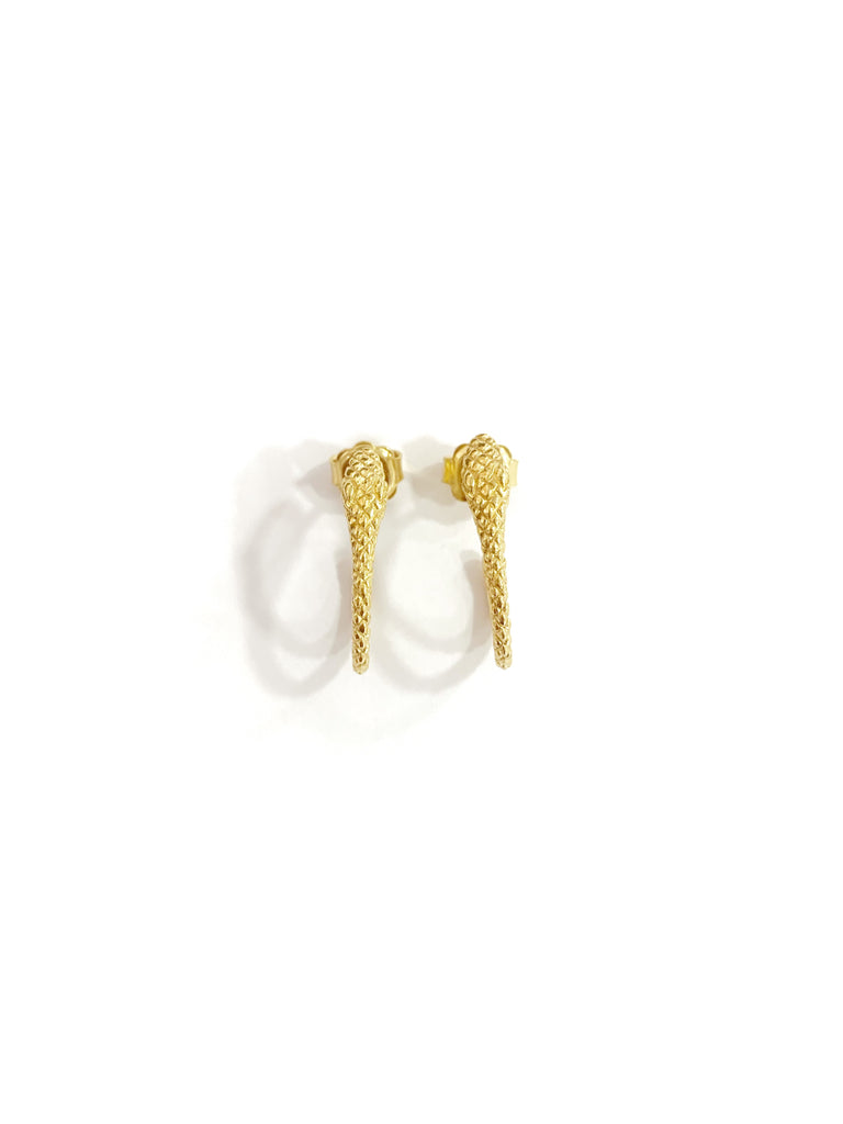 Snaky Details Earrings (925 Silver)