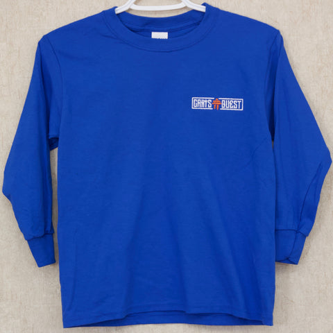 Youth Royal Blue CQ Long Sleeve Tee