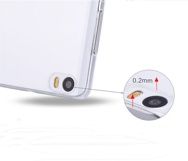 0.5mm For Xiaomi Note Case Cover Ultrathin Transparent TPU Soft Cover Protective Case For Xiaomi Note Mi Note Back Cover Bags