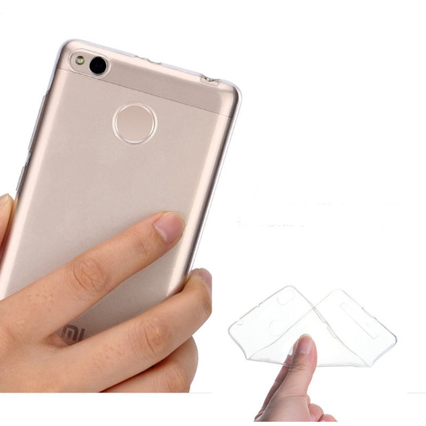 0.5mm For Xiaomi Redmi 3X Case Cover Ultrathin Transparent TPU Soft Cover Protective Case For Redmi 3X Back Cover Bags
