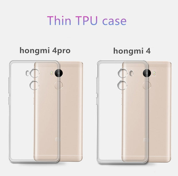 0.5mm For Xiaomi Redmi4 Pro Case Cover Ultrathin Transparent TPU Soft Cover Protective Case For Redmi 4pro Hongmi 4pro Bags