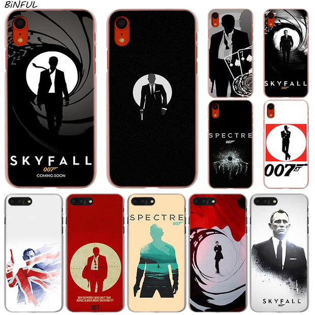 007 Spectre James Bond Skyfall Hot Fashion Transparent Hard Phone Cover Case For Iphone X Xs Max Xr 8 7 6 6s Plus 5 Se 5c 4 4s