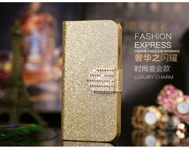 1 Piece Only Fashion Women Girl Style PU Leather Wallet Flip Phone Cases For Sony Xperia M2 S50H D2302 2305 2306+Stand Function