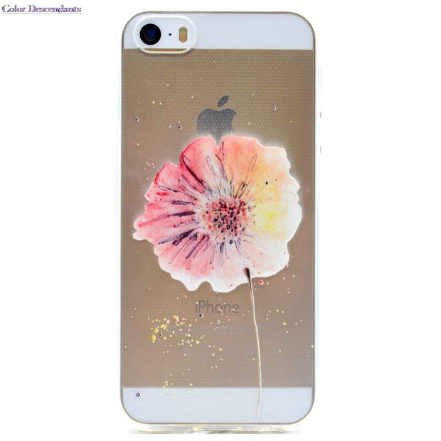 10 Species Pattern Ultra Thin Butterfly Flower TPU Silicone Cover For Apple IPhone 5 5S Case On IPhone 5s 5 SE Cellphone Cases