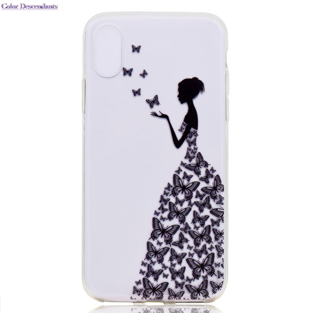 10 Species Pattern Ultra Thin Butterfly Flower TPU Silicone Cover For Apple IPhone X Case On IPhone X IPhoneX Cellphone Cases