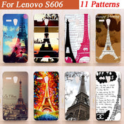 11 Patterns Hot Selling Eiffel Tower Hard Plastic Fashion Case For Lenovo A606 Case Cover For Lenovo A606 Case Cover