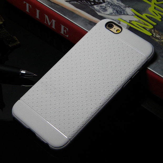 1pc Case For Iphone 6 6s Luxury Leather Pattern Soft Silicome Rubber Material Case Cover Skin