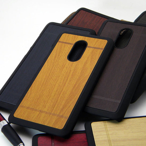 1pc Cover For Xiaomi Redmi Note 4 4X X Case Wood Vintage Style 2016 NEW Design Total 7 Colors Pu Leather With Plastic Hard Coque