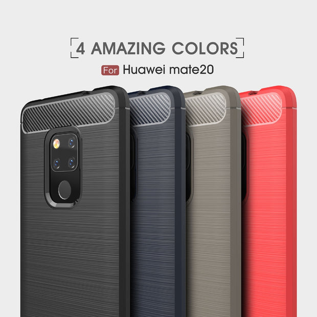 1pcs/lot Business Case For Huawei Y9 2019 Enjoy 9 Plus Honor 8C 8X Max Carbon Fiber Brushed TPU Back Cover Case For Mate 20 Pro