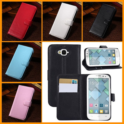 1pcs Luxury Wallet Leather Case For Alcatel One Touch POP C7 7040 OT7040D 7041D Phone Bag With Credit Card Holder