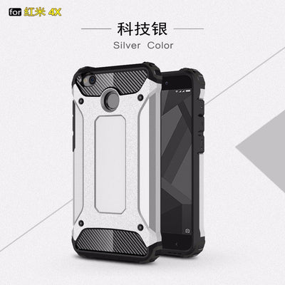 "2 In 1 Hybrid Silicon Plastic Phone Case For Xiaomi Redmi 4X Pro Cases 5.0"" Hard PC Armor TPU Anti-Shock Back Cover Fundas Coque"