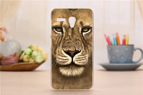 2015 15 Patterns New Fashion Hard PC Back Cover Case For Lenovo A606 Mobile Phone Fashion Painted Tiger Lion Bear Design Cases