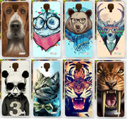2015 Top Selling Colorful Tiger Lion Animals Painted Mobile Cell Phone Case For Lenovo A536 A358t Shell Skin