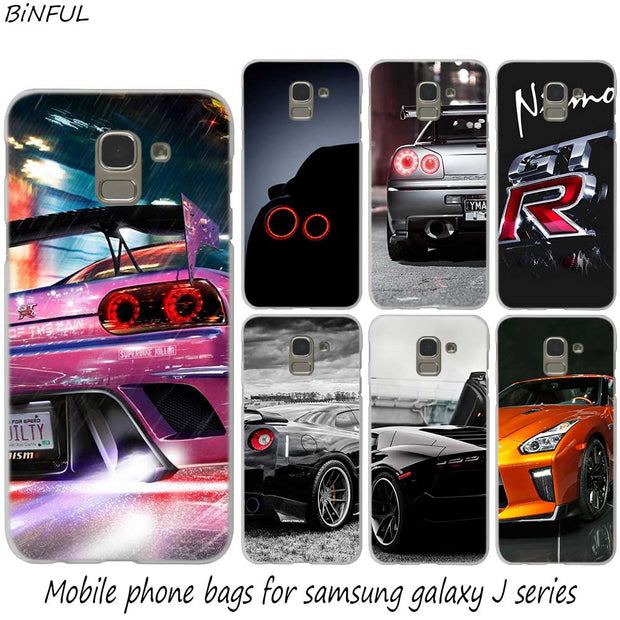 2017 GT-R Sports Car Hot Fashion Hard Phone Cover Case For Samsung J2 J3 J5 J4 J6 J7 J8 2018 2016 J7 2017 EU J6 Prime Cover
