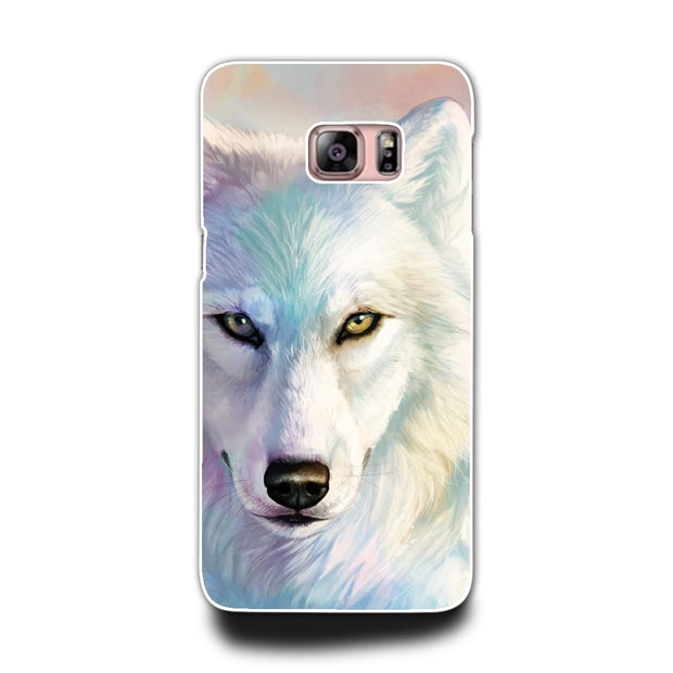 2017 New Design White Wolf Case Of Cover For Samsung Galaxy S4 S3 S5 S5MINI S6 S6 Edge Phone Hard Shell