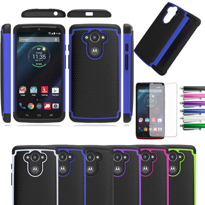 2in1 Impact Rubber Shockproof Silicone Hard Case Cover For Motorola Droid Turbo/Moto Max XT1254/Ballistic Nylon Version XT1225