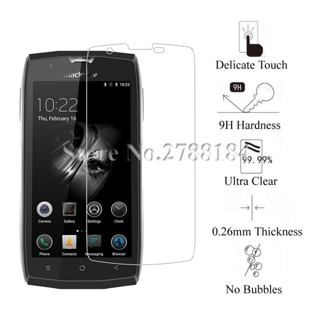 2pcs Screen Protector Tempered Glass For BlackView Bv9000 Bv9000 Pro Bv8000 Pro Bv7000 Bv7000 Pro Bv6000 Bv6000s Glass
