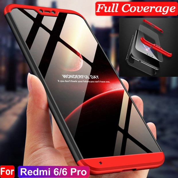 3 In 1 Case For Xiaomi Mi 8 SE 5X 6X A2 Case 360 Full Protection Shockproof For Redmi 6 Pro Note 5 Pro 5A Cover Fundas Coque