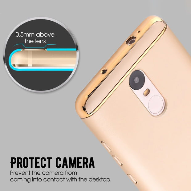 3 In 1 Electroplated Armor Case For Xiaomi Note 4 5 Pro 4X Redmi 4X 3S 4A 5A 5 Plus 6 6A 6 Pro Mi 8 A2 Lite 6 A1 5X Mix 2 6X A2