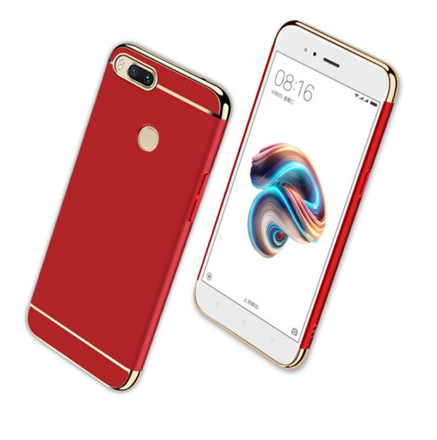 3 In 1 Plating Hard PC Case For Xiaomi Mi6X Mi A1 Mi5X Redmi 6 6A S2 5 Plus 4X 4A 3S Note 5 5A Prime 4 4x Pro Protective Cover