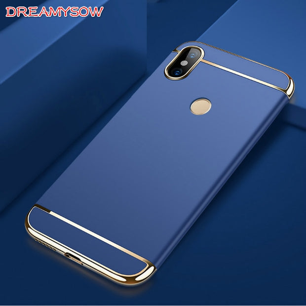 3 In 1 Shockproof Matte Case For Xiaomi Mi8SE 6X A2 5S 6 Plus Max3 Redmi 6Pro 6A Note5 Pro S2 3X 3S 3Pro Note 4 4X 3 2 Hard Case