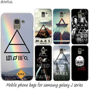30 Second To Mars Hot Fashion Hard Phone Cover Case For Samsung J2 J3 J5 J4 J6 J7 J8 2018 2016 J7 2017 EU J6 Prime Cover
