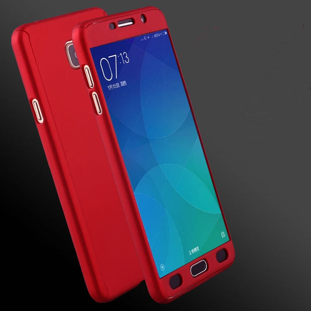 brand new 1c4c2 60fc8 360 Full Protection Case For Samsung Galaxy C7 Pro C9 Pro Case Phone Back  Cover + Free Tempered Glass