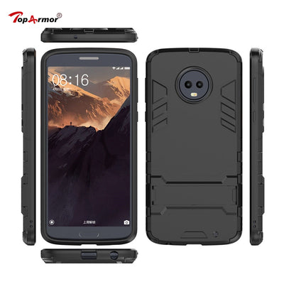 3D Armor Case Hybrid PC+TPU Shockproof Case For Motorola Moto M E4 Eu G3 G4 X Z2 Play X4 E5 G4 G5 G5S G6 Plus Stand Phone Cover