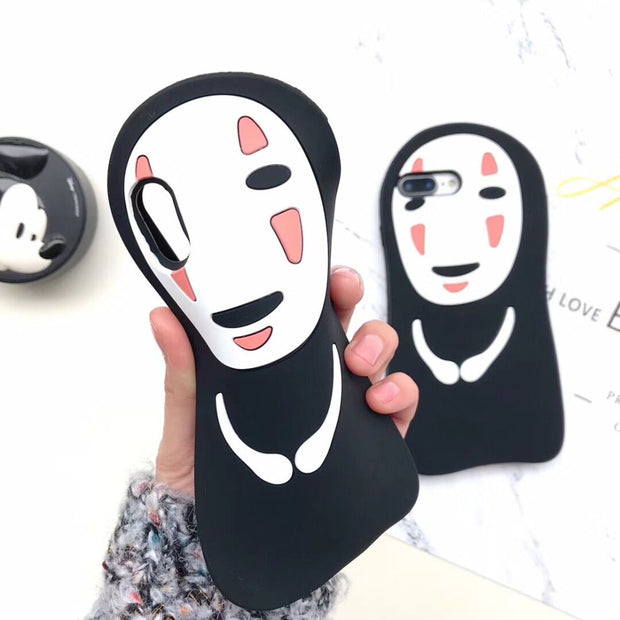 3D Cartoon Spirited Away No Face Male Soft Silicone Phone Cases For IPhone X XS MAX XR 5 5s SE 6s 6 7 8 Plus Ghost Rubber Cover
