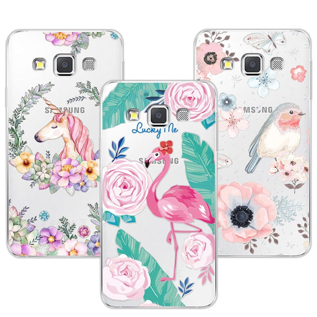 3D Case Cover For Samsung Galaxy A3 Relief Lace Plant Flower Cute Soft Silicon Phone Case For Galaxy A3 A300 A300F A300H A3000