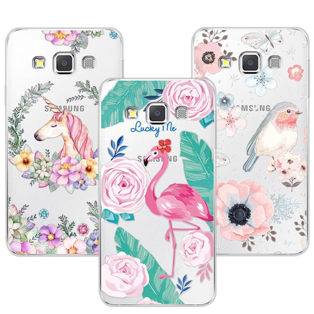 3D Case Cover For Samsung Galaxy A5 Relief Lace Plant Flower Cute Soft Silicon Phone Case For Galaxy A5 2015 A500 A500F A500H