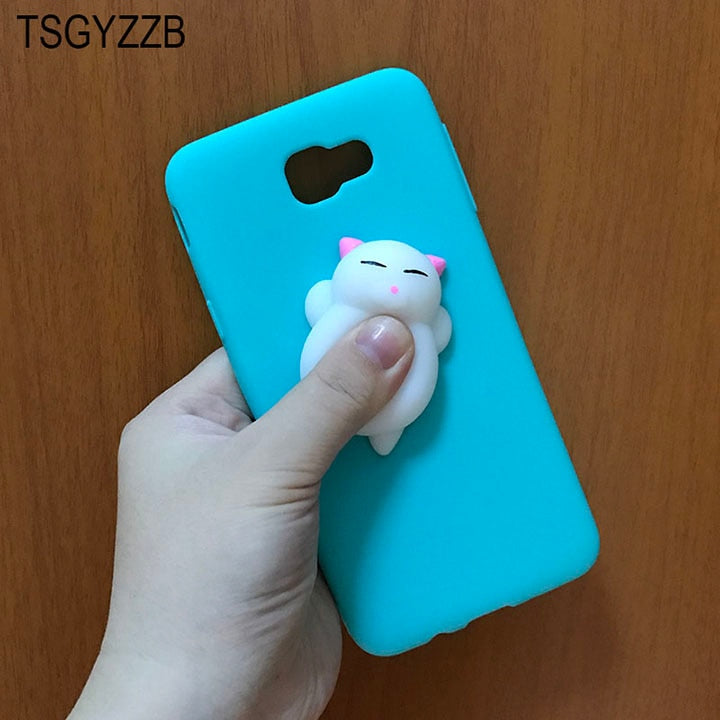 sale retailer e6452 a17c5 3D Cute Squishy Case Capa For Samsung Galaxy J5 Prime Cover Silicone Soft  Squeeze Toys For Samsung J7 Prime Case On7 2016 G570F