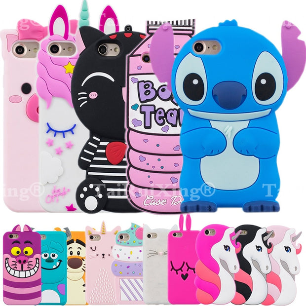 official photos cfb24 7ef53 3D Cute Unicorn Minions Stitch Phone Silicone Soft Case Cover For Samsung  Galaxy Core Prime G360 G360H G361 G361HCases Gel Shell