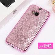 3D Phone Cases For HTC One M8 One M9 Phone Back Covers Plating Matte Glitter Soft TPU Silicon Cover Capa