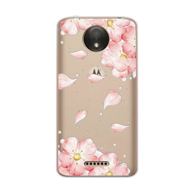 "3D Relief Lace Flowers Case Cover For Moto C Plus Soft TPU Cute Cat Case Capa For Motorola C Plus XT1723 XT1724 5.0"" Coque+Gift"
