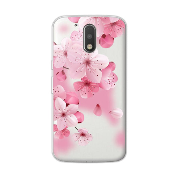 "3D Relief Lace Flowers Case Cover For Motorola G4 Plus XT1644 Soft Silicone Cute Cat Case Fundas For Moto G4 5.5"" Coque +Gift"