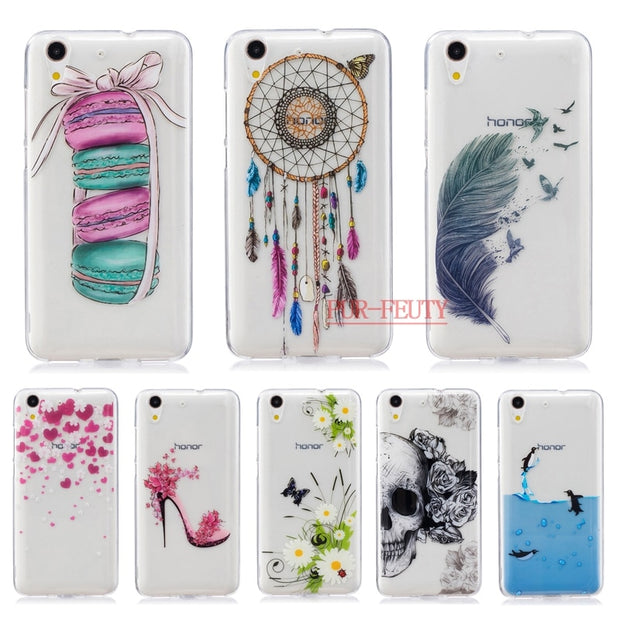 more photos 42cf3 e3c10 3D Relief Soft Silicon Case For Huawei Y6ii Y6 Ii 2 Y 6ii Y 6II CAM-L21  CAM-L32 Case Back Cover For Capa Huawei Y6 Ii Y6 II Y6 2