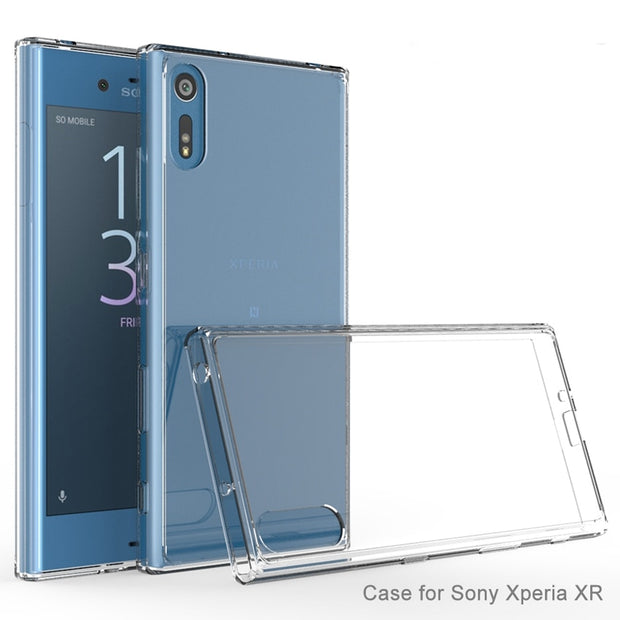 4 Colors Protection Fundas Coque Transparetn Air Cushion Case Crystal Clear Back Shell Shockproof Mask For Sony Xperia XZ / XR