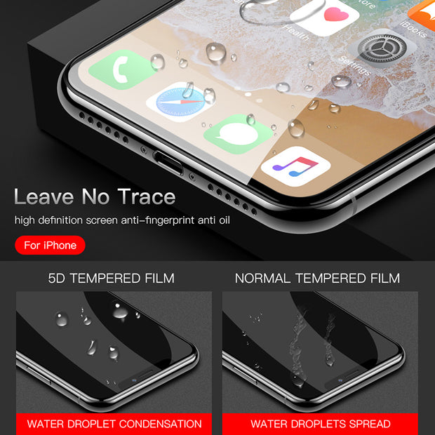 5D Protective Glass On The For IPhone 6 6S 7 8 Plus X XS XS Max XR Tempered Screen Protector For Samsung S8 S8 Plus Glass Film