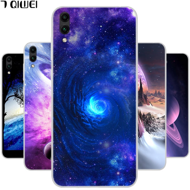 6 26'' For Huawei Y7 Prime 2019 Case Silicone Soft TPU Phone Cover For  Huawei Y7 Prime 2019 Case DUB-AL20 DUB-TL00 Y 7 Prime
