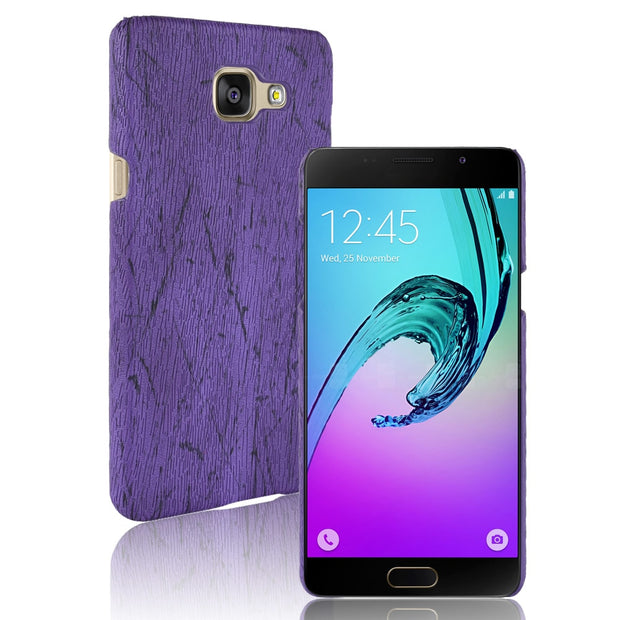A3 A5 A7 2016 Case Wood Grain PU Leather Protective Hard Cover For Coque Samsung Galaxy A3 A310 A5 A510 A7 A710 2016 Phone Cases