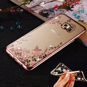A6 Case For Samsung Galaxy A6 Plus 2018 Cover Plating Secret Garden Luxury Diamond Tpu Case For A6+ 2018 Rhinestone Back Coque
