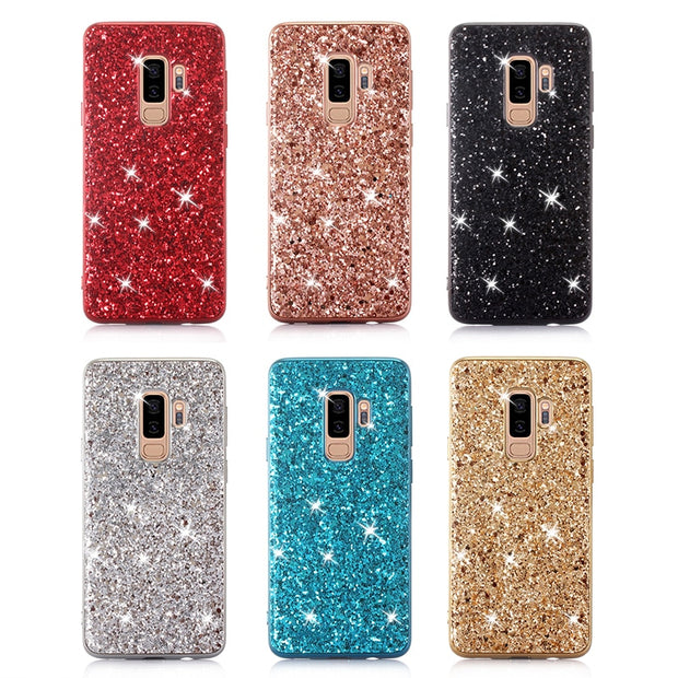 lowest price 7c7e0 4f095 AAA+ Bling Powder Shining Case For Samsung S9 Plus S9 3 Layer Protective  Glitter Hard Cases For Samsung S9 Plus S9 Phone Cover