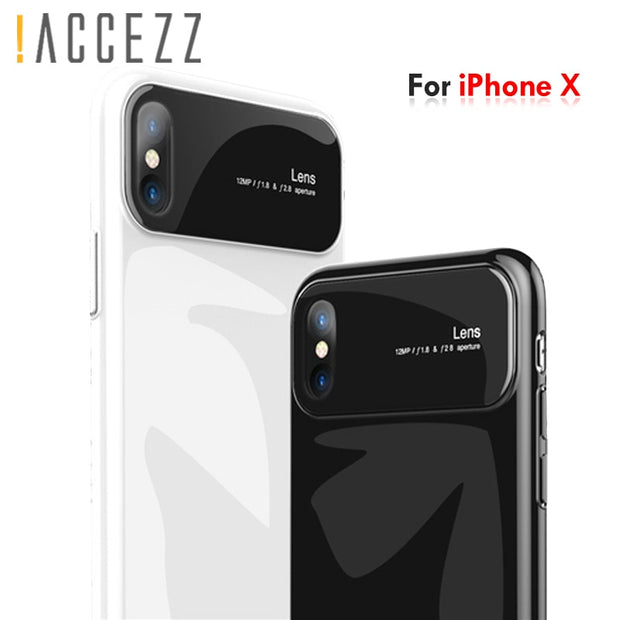 !ACCEZZ Shockproof Business Tempered Glass Phone Cases For Iphone X 7 8 6 6S Plus Anti Knock Protective Back Cover Shell Fundas