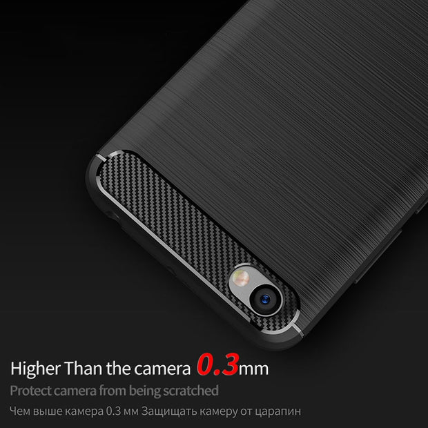 AKABEILA Case For Xiaomi Redmi 5A Case For Xiaomi Redmi Note 5A Case Cover Silicone Carbon Fiber Brush Shell Redmi Note 5A Prime