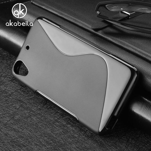 AKABEILA Cases For HTC Desire 626 Cover 650 628 626w 626D 626G 626S Cell Phone Bags Black Color Soft TPU Silicon S Line Skin