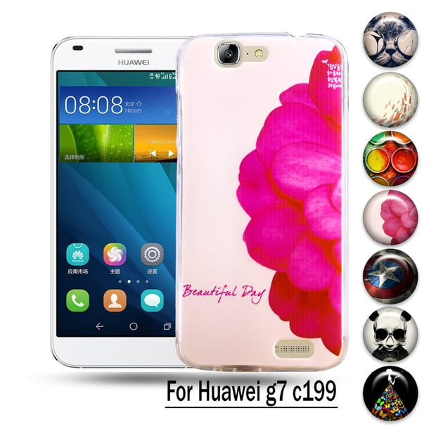 huge discount 12ea5 f6906 AKABEILA Hard Plastic Silicon Case For Huawei Ascend G7 C199 Phone Cover  Shell Fundas