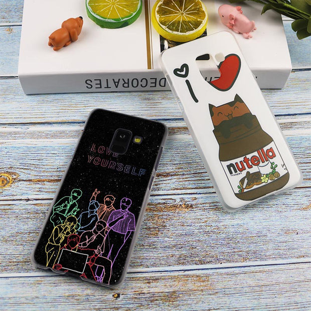 ARMY Bangtan Boys BTS HOPE Hot Transparent Case For Samsung Galaxy A3 A5 A9 A7 A6 A8 Plus 2018 2017 2016 Star A6S Note 9 8 Cover