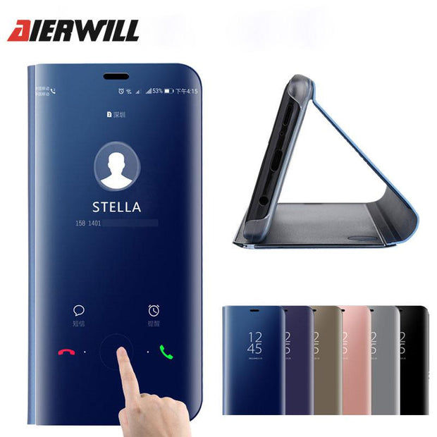 info for de2bf 982b9 Aierwill Flip Case For Xiaomi Redmi Note 5 Pro Clear Smart View Cases  Leather Cover For Xiaomi Mi 6x Case Luxury Back Cover