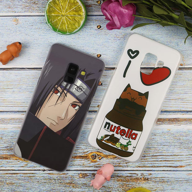 Anime Naruto Itachi Sharingan Transparent Case For Samsung Galaxy A3 A5 A9 A7 A6 A8 Plus 2018 2017 2016 Star A6S Note 9 8 Cover